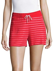 Sandro Striped Drawstring Shorts Pink