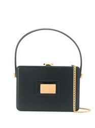 Tom Ford Leather Box Bag Black