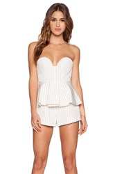 Finders Keepers Revelation Bustier Playsuit White