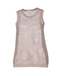 Jucca Sleeveless Sweaters Dove Grey