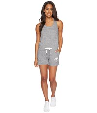 Nike Sportswear Vintage Romper Carbon Heather Sail Women's Jumpsuit And Rompers One Piece Gray