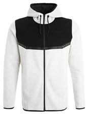Jack And Jones Tech Jjtrich Tracksuit Top White Melange Light Grey