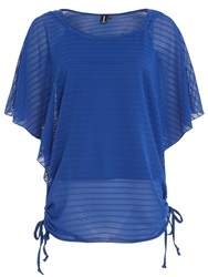 Izabel London Net Batwing Top Cobalt