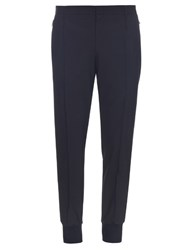 Wooyoungmi Wool Blend Seersucker Slim Leg Trousers Black