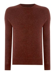 Peter Werth Copen Brushed Wool Knitted Sweat Jumper Brown