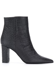 Marc Ellis Crocodile Effect Ankle Boots 60