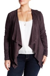 14Th And Union Draped Faux Suede Jacket Plus Size Gray