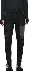 Diesel Black Patchwork Carrot Chino Jeans
