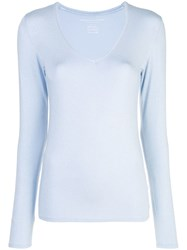 Majestic Filatures Loose Fit Knitted Top Blue