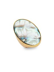 Stephanie Kantis Empress Blue Abalone Ring Gold
