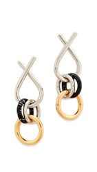 Alexander Wang X Earrings Rhodium Black