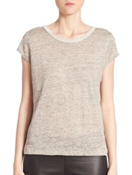 Generation Love Millie V Back Heathered Tee Heather Grey