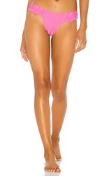 Luli Fama Bachelorette And Her Babes Ruffle High Leg Brazilian Bottom In Pink. Party Pink