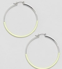 Accessorize Yellow Dipped Hoop Earrings