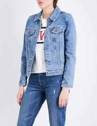 Levi's Original Trucker Stretch Denim Jacket Throw Elbows