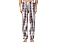 Sleepy Jones Men's Madras Plaid Cotton Pajama Pants Red