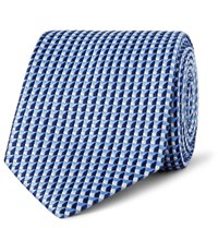 Dunhill 7.5Cm Mulberry Silk Jacquard Tie Blue