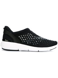 Michael Michael Kors Embellished 'Ace' Sneakers Black
