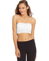 Material Girl Juniors' Lace Bandeau Top Bright White