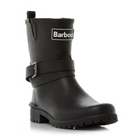 Barbour Biker Bkle Well Short Wellington Boots Black