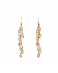 Emily And Ashley Simulated Crystal Briolette Dangle Earrings Pink
