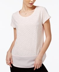 Maison Jules Polka Dot Print Contrast Top Only At Macy's Pink Cloud