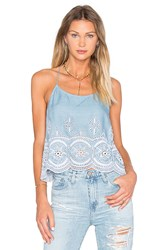 Lovers Friends Baciami Top Blue