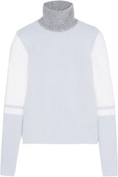 Atto Color Block Knitted Sweater Blue