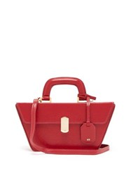 Hillier Bartley Cassette Grained Leather Bag Red