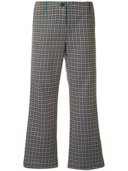 Aalto Flared Cropped Trousers Multicolour