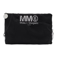 Maison Martin Margiela Mm6 Black Tulle Covered Pouch