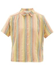 Ace And Jig Winnie Short Sleeved Cotton Shirt Multi
