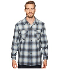 Pendleton L S Board Shirt Blue Grey Mix Ombre Long Sleeve Button Up Multi