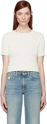 Simon Miller Ivory Ribbed Yucca T Shirt