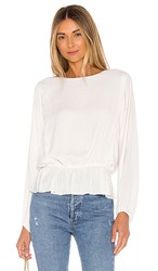 1.State 1. State Shadow Stripe Dolman Blouse In Ivory. Soft Ecru