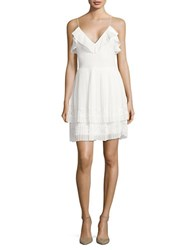 French Connection Adanna Pleat Lace Jersey Dress Summer White
