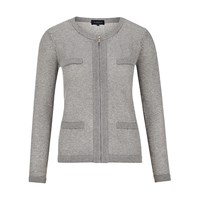 Viyella Tweed Pocket Cardigan Grey Marl