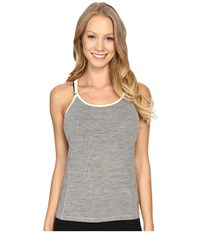 Smartwool Nts Micro 150 Strappy Pattern Tank Top Silver Gray Heather Women's Sleeveless