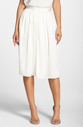 Needle And Thread 'Pandora' Satin Midi Skirt Creamy White