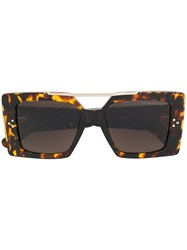 Cutler And Gross Ltd Edition Square Framed Sunglasses Acetate Brown