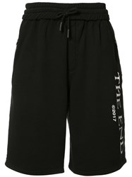 Off White Drawstring Sweat Shorts Black