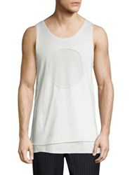 3.1 Phillip Lim Tiered Cotton Tank White