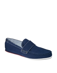 Frank Wright Loafer In Canvas Blue