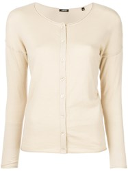 Aspesi Round Neck Cardigan Nude And Neutrals