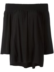 Steffen Schraut Off Shoulder Blouse Black