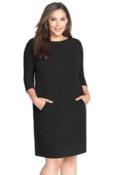 Plus Size Women's Tahari By Arthur S. Levine Seamed A Line Dress