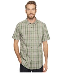 Columbia Global Adventure Iv Yd Short Sleeve Shirt Safari Plaid Men's Short Sleeve Button Up Brown
