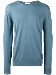 Boglioli Crew Neck Jumper Blue