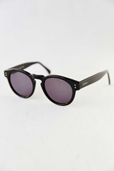 Komono Crafted Clement Black Round Sunglasses