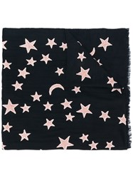 Lily And Lionel Star Embroidered Scarf Blue
